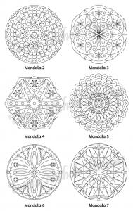 Mellow Mandalas Adult Coloring Book Volume 05 Pic 05