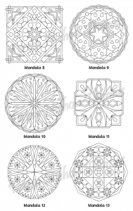 Mellow Mandalas Adult Coloring Book Volume 05 Pic 06