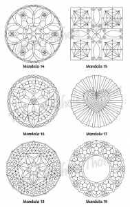 Mellow Mandalas Adult Coloring Book Volume 05 Pic 07