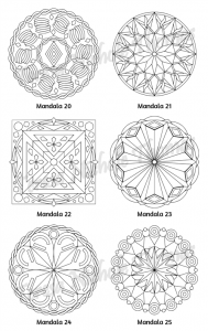 Mellow Mandalas Adult Coloring Book Volume 05 Pic 08