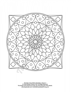 Mellow Mandalas Adult Coloring Book Volume 06 Pic 04
