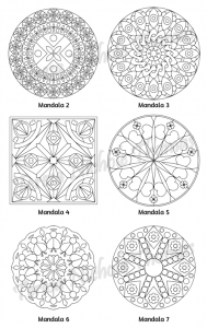 Mellow Mandalas Adult Coloring Book Volume 06 Pic 05
