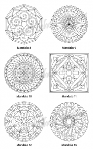 Mellow Mandalas Adult Coloring Book Volume 06 Pic 06