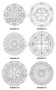 Mellow Mandalas Adult Coloring Book Volume 06 Pic 07