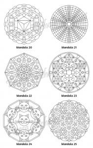 Mellow Mandalas Adult Coloring Book Volume 06 Pic 08