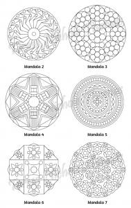 Mellow Mandalas Adult Coloring Book Volume 07 Pic 05