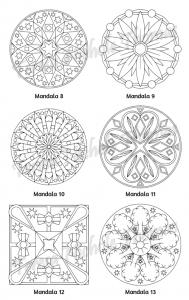 Mellow Mandalas Adult Coloring Book Volume 07 Pic 06