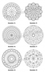 Mellow Mandalas Adult Coloring Book Volume 07 Pic 07