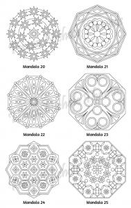 Mellow Mandalas Adult Coloring Book Volume 07 Pic 08
