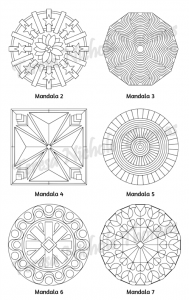 Mellow Mandalas Adult Coloring Book Volume 08 Pic 05
