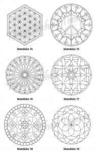 Mellow Mandalas Adult Coloring Book Volume 08 Pic 07