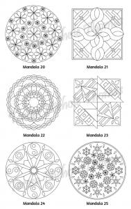 Mellow Mandalas Adult Coloring Book Volume 08 Pic 08