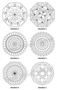 Mellow Mandalas Adult Coloring Book Volume 09 Pic 05