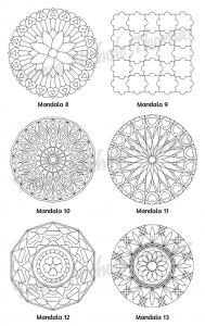 Mellow Mandalas Adult Coloring Book Volume 09 Pic 06
