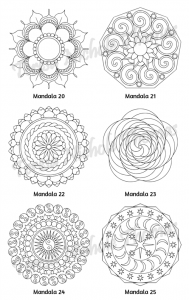 Mellow Mandalas Adult Coloring Book Volume 09 Pic 08