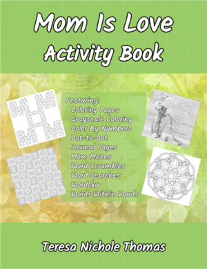Mom Is Love Activity Book Cover