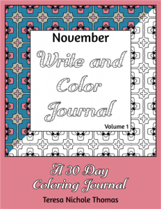 November Write and Color Journal Volume 1 Cover