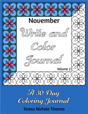 November Write and Color Journal Volume 2 Cover