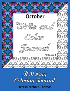 October Write and Color Journal Volume 2 Cover