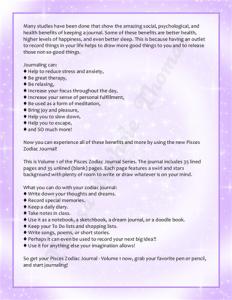 Pisces Zodiac Journal Volume 1 Pic 05