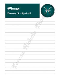 Pisces Zodiac Journal Volume 2 Pic 03