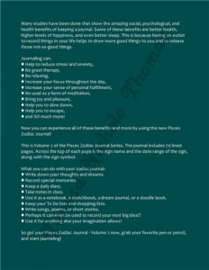 Pisces Zodiac Journal Volume 2 Pic 04