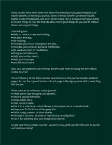 Pisces Zodiac Journal Volume 3 Pic 04