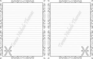 Pisces Zodiac Journal Volume 5 Pic 05