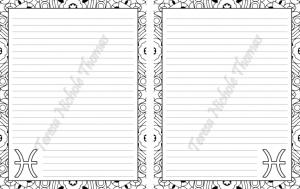 Pisces Zodiac Journal Volume 5 Pic 06