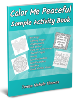 Color Me Peaceful Sample Activity Book