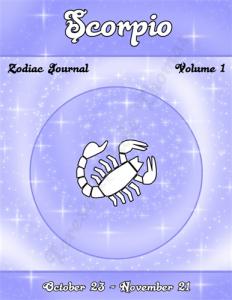Scorpio Zodiac Journal Volume 1 Pic 01