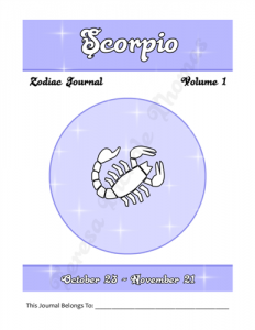 Scorpio Zodiac Journal Volume 1 Pic 02