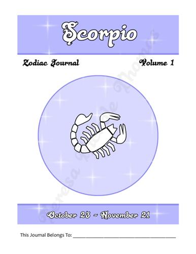 Scorpio Zodiac Journal Volume 1 Pic 02