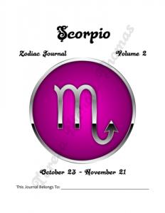 Scorpio Zodiac Journal Volume 2 Pic 02