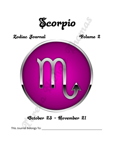 Scorpio Zodiac Journal Volume 2 Pic 02