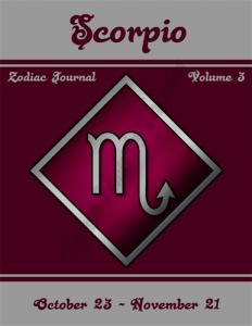 Scorpio Zodiac Journal Volume 3 Pic 01