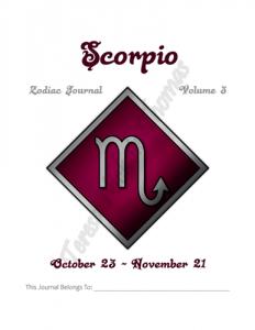 Scorpio Zodiac Journal Volume 3 Pic 02