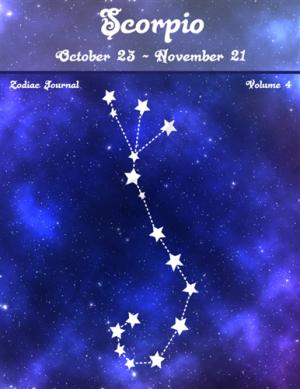 Scorpio Zodiac Journal Volume 4 Pic 01