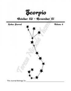 Scorpio Zodiac Journal Volume 4 Pic 02