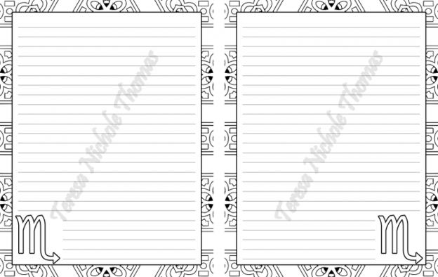 Scorpio Zodiac Journal Volume 5 Pic 05