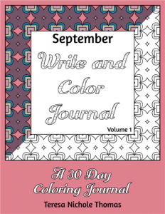 September Write and Color Journal Volume 1 Cover