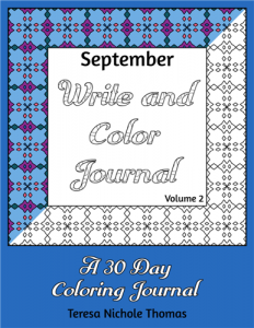 September Write and Color Journal Volume 2 Cover