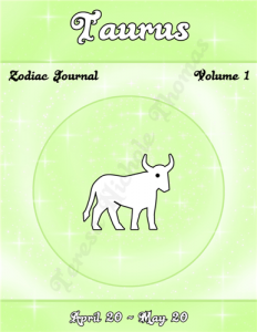 Taurus Zodiac Journal Volume 1 Pic 01
