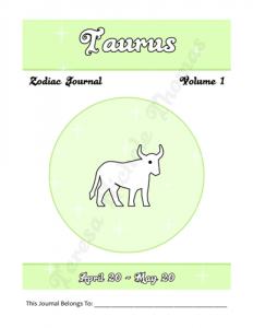 Taurus Zodiac Journal Volume 1 Pic 02