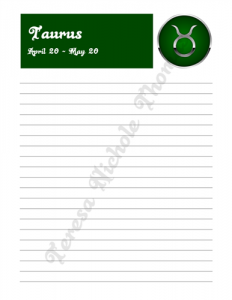 Taurus Zodiac Journal Volume 2 Pic 03