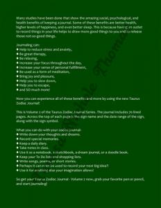 Taurus Zodiac Journal Volume 2 Pic 04