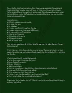 Taurus Zodiac Journal Volume 3 Pic 04