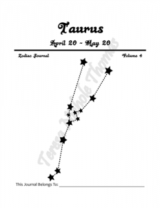 Taurus Zodiac Journal Volume 4 Pic 02