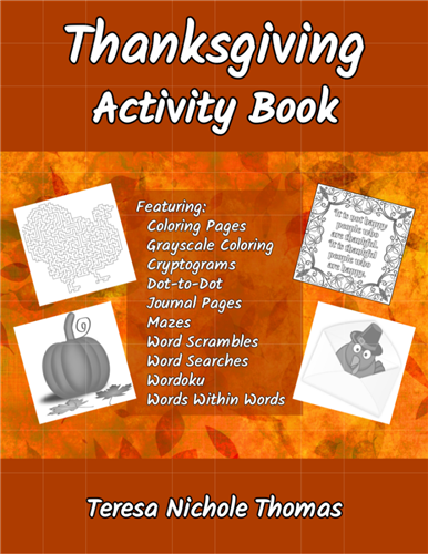 Thanksgiving Activity Book Cover