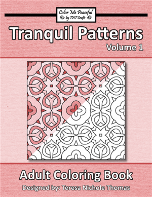 Tranquil Patterns Adult Coloring Book Volume 01 Cover